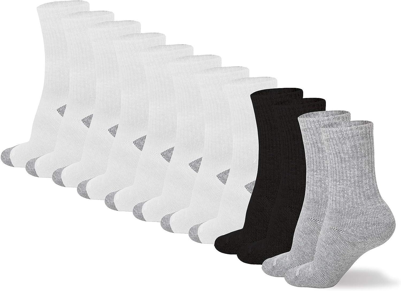 No Nonsense unisex-child Kids Sport Crew Sock Expantech - 12 Pair Pack