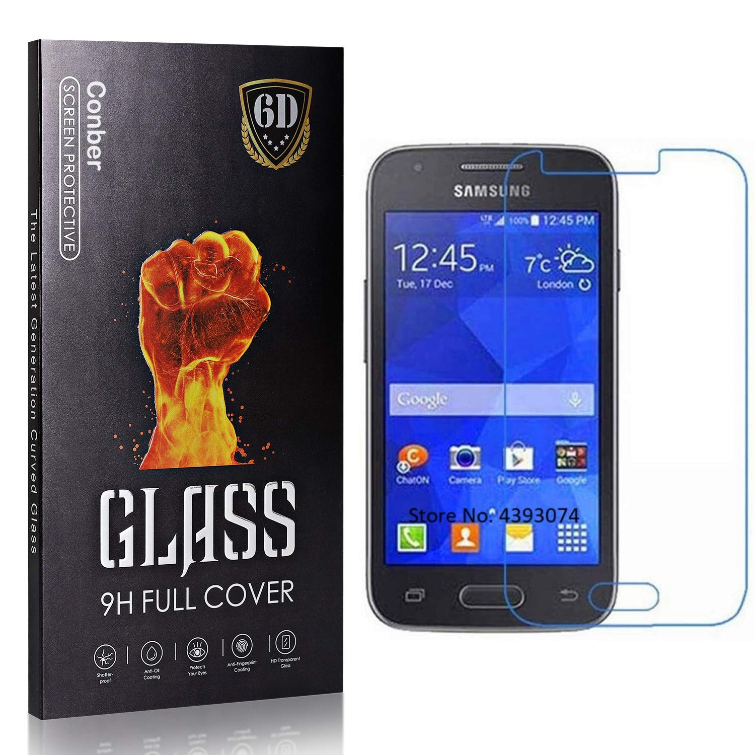 Conber 1 Pack Screen Protector for Galaxy Ranking TOP19 Max 63% OFF Samsung 4 G313 Ace