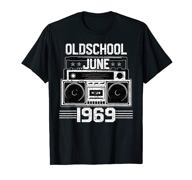 Oldschool June 1969 Tshirt 50th Birthday 50 years old Tee