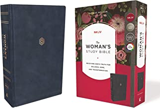 The NKJV, Woman's Study Bible, Leathersoft, Blue, Full-Color: Receiving God's Truth for Balance, Hope, and Transformation