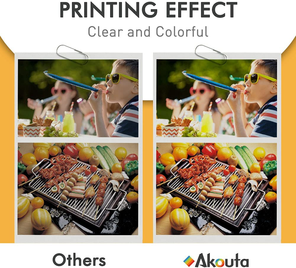 Akouta Remanufactured to use with Canon 245 and 246 Replacement PG-245XL CL-246XL PG-243 CL-244 with Canon PIXMA MX492 MX490 MG2920 MG2922 MG2420 MG2520 MG3029 IP2820 (1 Black 1 Tri-Color)