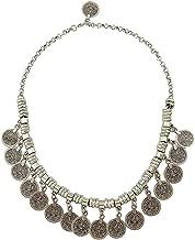 Zealmer Retro Boho Gypsy Silver Coin Charms Choker Necklace Pendant