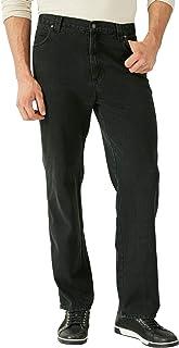 Liberty Blues Men's Big & Tall Loose-Fit Side Elastic 5-Pocket Jeans