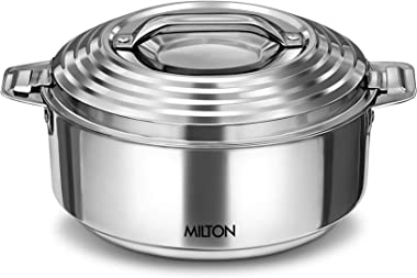 Milton Galaxia 1500 Insulated Stainless Steel Casserole, 2000 ml, Silver