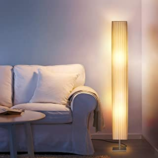 Albrillo Fabric Floor Lamp, Modern Asian Style Standing Lamps with Soft Diffused Uplight, LED 46 Inch Tall Lamps for Living Room, Bedrooms, Office