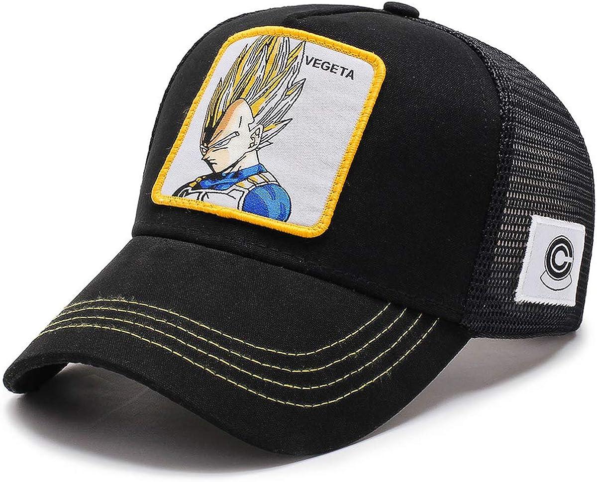 I3C Anime Dragon Ball Bejīta Yonsei Vegeta IV Gorra Cosplay Accesorios para béisbol Unisex y fanáticos Ajustable