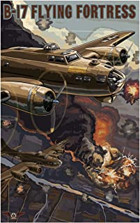 B-17 Flying Fortress Travel Art Print Poster by Paul A. Lanquist (12