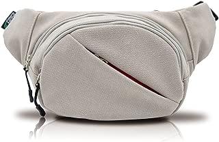 Fanny Waist Packs, 4 Compartments Pouch Canvas Bag Adjustable Belt, Dessert