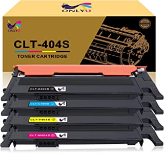 ONLYU Compatible Toner Cartridge Replacement for Samsung CLT-404 CLT-K404S CLT-C404S CLT-M404S CLT-Y404S Xpress C430W C430FW C480FW SL-C430W SL-C480W SL-C480FN (Black, Cyan, Magenta, Yellow, 4-Pack)