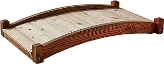SamsGazebos Zen Japanese Style Wood Garden Bridges, 4`, Brown