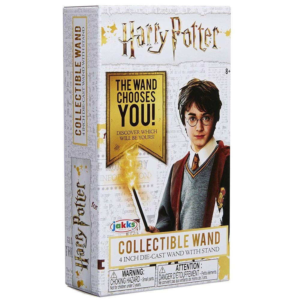 Harry Potter 4 inch Collectible Wand – Mystery Box with Die-cast Wand with Stand | The Wand Chooses You | Discover Which Will Be Yours