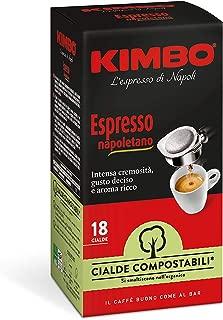 Kimbo Cialde Compostabili Espresso Napoletano - 8 Astucci da 18 Cialde (Totale 144 Cialde)