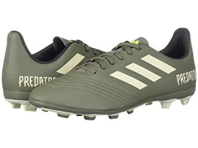 adidas Kids Predator 19.4 FxG Soccer (Little Kid/Big Kid) (Legacy Green/Sand/Solar Yellow) Kids Shoes