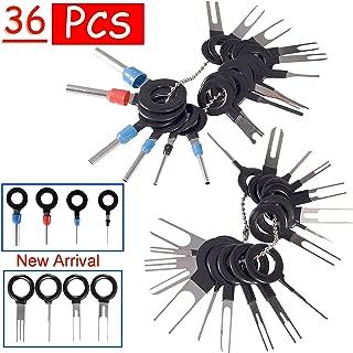 BingSnow 36Pcs Pins Terminals Removal Tools for Car Auto Wire Connector Terminal Pin Extractors Puller Remover Repair Key Tools Set Terminal