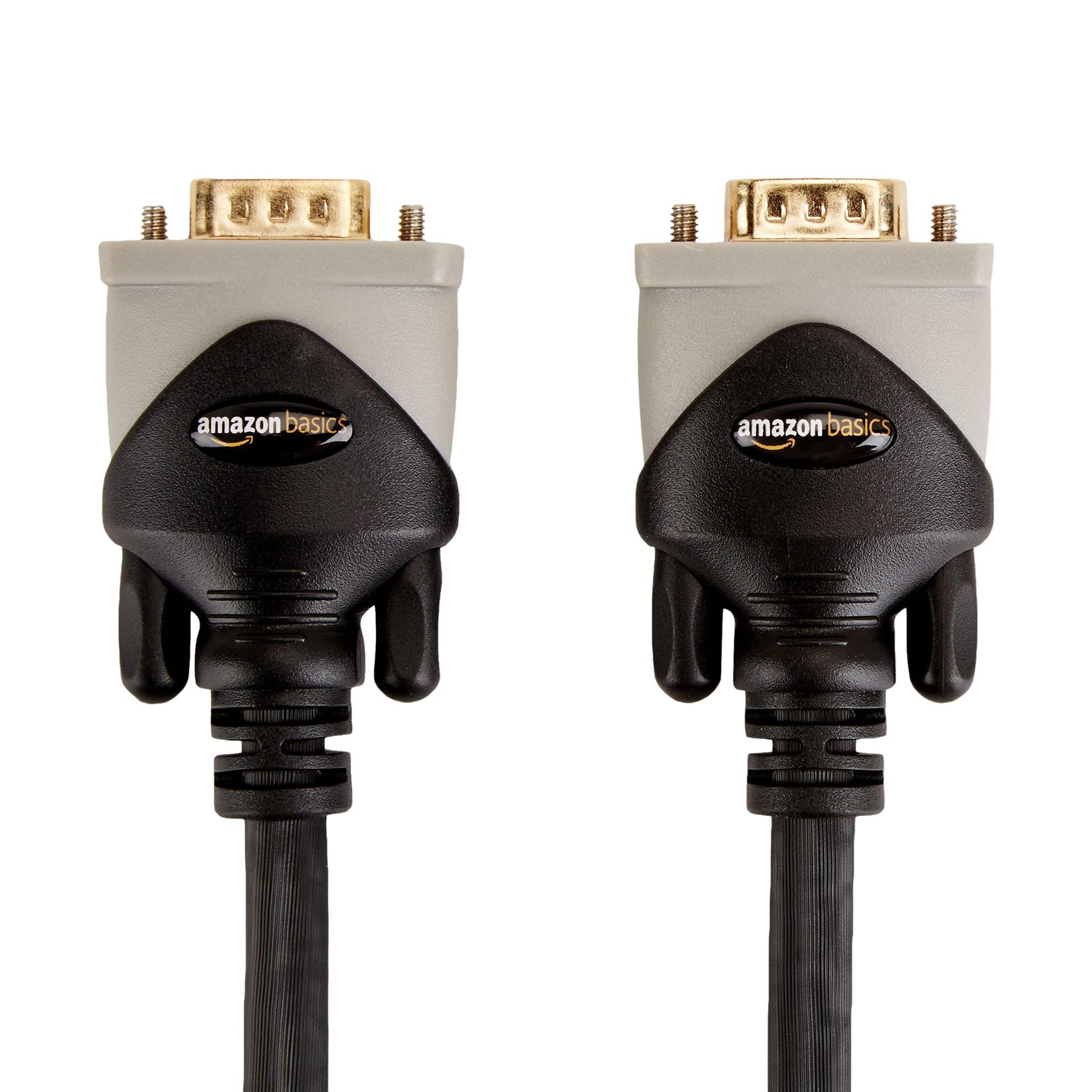 Amazon Basics VGA to VGA PC Computer Monitor Cable - 6 Feet (1.8 Meters)