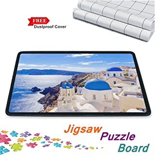 Jigsaw Puzzle Board Mat Smooth Puzzle Plateau Portable Board with Puzzle Dustproof Cover Movable Jigsaw Puzzle Mat up to 1000 Pieces by Ditome