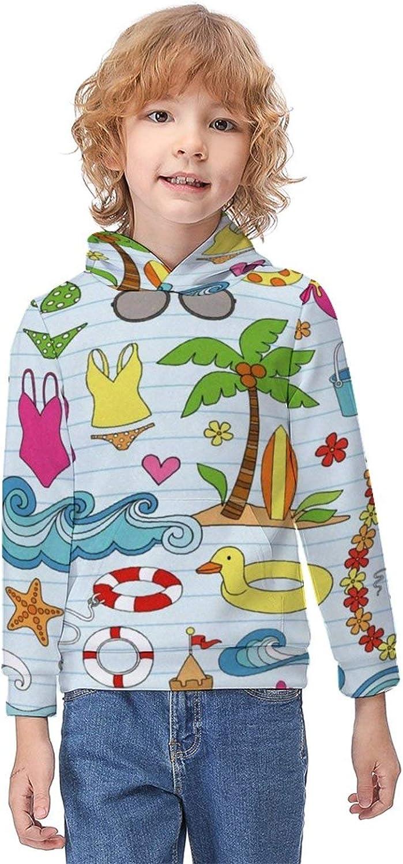 Boys Girls Pullover Hoodies Printed Classic Hoodie Tops for Unisex Kids