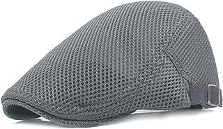 bbc658964a6 Men Breathable mesh Summer hat Newsboy Beret Ivy Cap Cabbie Flat Cap