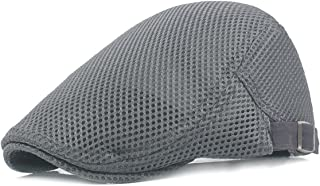 Best men summer mesh beret cap breathable visor flat hat Reviews