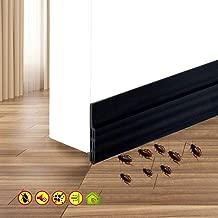 Self Adhesive Door Sweep Draft Stopper - Camel Home Weather Stripping Rubber Under Door Bottom for Interior Doors Seal Strip Insulation for Weatherproof, Soundproof, 2