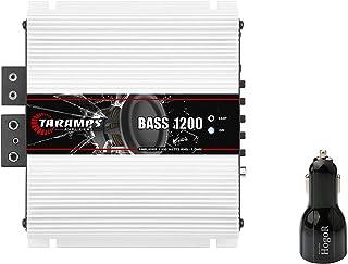 $199 » Taramp's BASS 1200 1 Ohm 1.2K Watts Class D Full Range Mono Amplifier Bundle with HogoR Car Carger