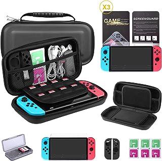 comprar comparacion Bestico Kit Protección para Nintendo Switch, Funda Switch Accesorios de Protección incluyen Funda Nintendo Switch,Estuche ...