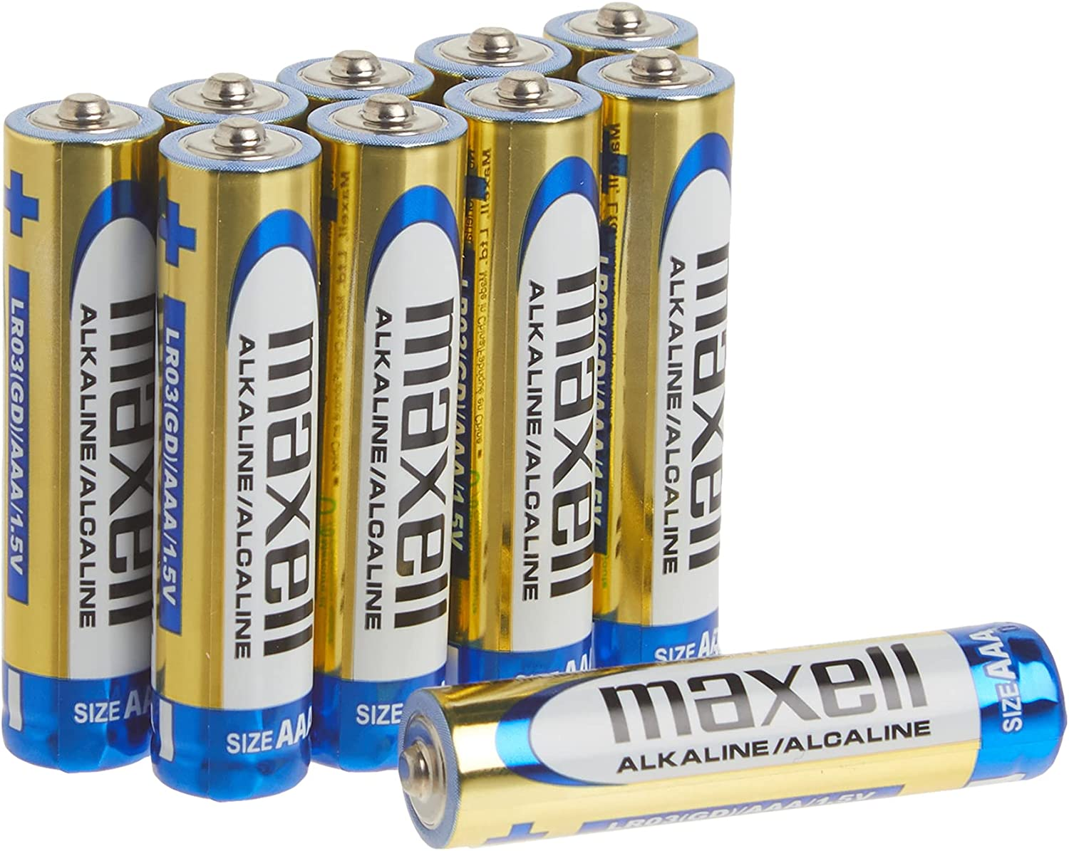 Maxell 723810 Ready-to-go Long Lasting and Reliable Alkaline Battery AAA Cell 10-Pack
