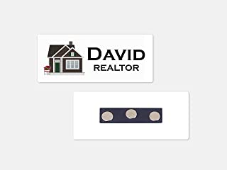 Personalized Magnetic Name Badge/Real Estate Sold White Background Custom Name Tag - 1.25