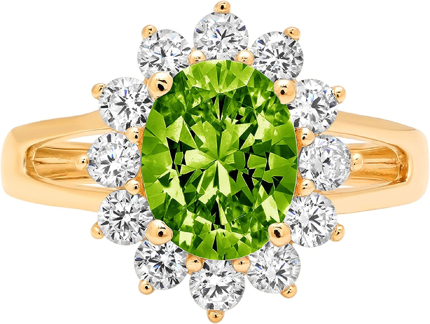2.3ct Brilliant Oval Max 43% OFF Cut Solitaire Halo Dealing full price reduction with Gen Designer Accent