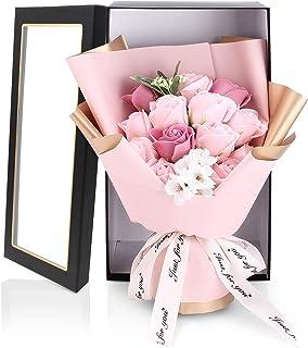 HANASPEAK ソープフラワー 花 花束 造花 枯れない花 バラ 誕生日プレゼント フラワーギフト 感謝 お礼 石鹼花 開店祝い 記念日 お見舞い ピンク(Bonnie)