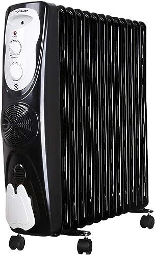 Aigostar Protector 33JHG - Radiador de aceite portátil, 13 elementos, 2800 Watios de potencia. Calor seguro con siste...
