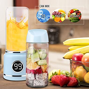 Wireless Portable Juice Blender | USB Rechargeable Juice Blender | LED Display | Six Stainless Steel Blades | Easy to Clean |