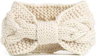 NISHAER Women's Chunky Cable Knitted Turban Headband Ear Warmer Head Wrap