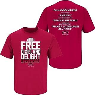 Alabama Football Fans. Dixieland Delight. Crimson T-Shirt (S-5X)