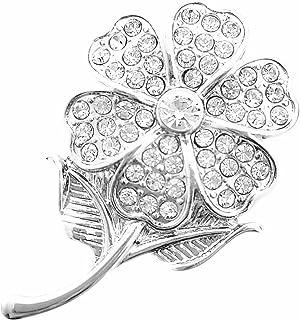 Magnet Brosche Schal Poncho Taschen Strass Steine Anstecker Libelle Rose Gold