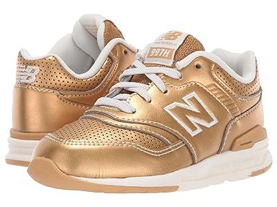 New Balance Kids R997Hv1 Metallic (Infant/Toddler) (Classic Gold Metallic/Sea Salt) Girls Shoes