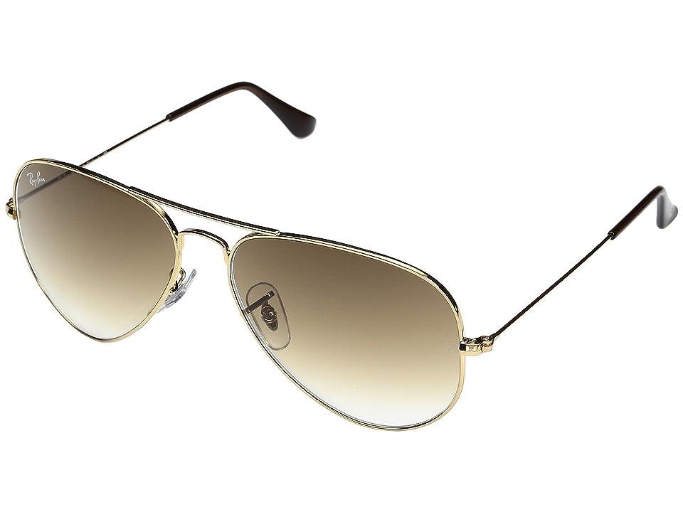 Ray-Ban RB3025 Original Aviator 58mm (Gold/Brown) Metal Frame Fashion Sunglasses