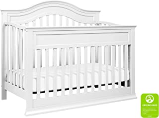 DaVinci Brook 4-in-1 Convertible Crib with Toddler Bed Conversion Kit in White | Greenguard Gold Certified