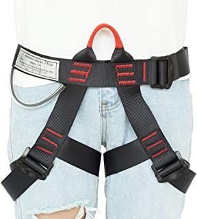 LAPARD Climbing Harness,Rock Climbing Harness Protect Waist Safety Harness,Wider Half Body Harness for Mountaineering Tree Climbing Fire Rescuing Caving Rock Climbing Rappelling for Women Man