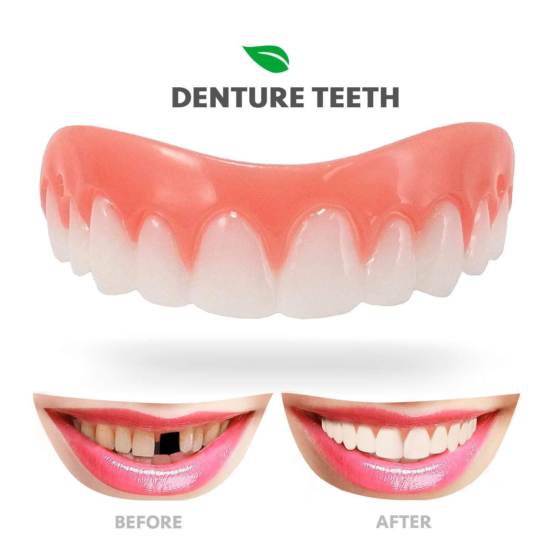 Deluxe Pack Fake False Teeth Joke Novelty Instant Smile Medium Novelty Gag Trick