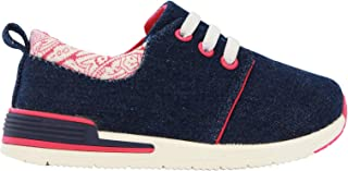 Oomphies Sunny Girls Navy Pink Athletic Shoe