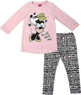 Disney Minnie Mouse Little Girls Leggings Size 5 Black