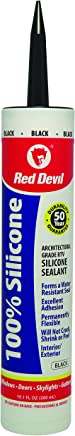Red Devil 081660 100 Percent Silicone Sealant Architectural Grade,10.1 oz, Black