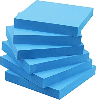 Early Buy Pop Up Sticky Notes 3x3 Refills Self-Stick Notes 6 Pads, Solid Color, 100 Sheets/Pad (Blue)