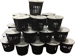 25 Pack - NET Pot 3 inch with LIDS MESH HYDROPONIC AEROPONIC Orchid Round