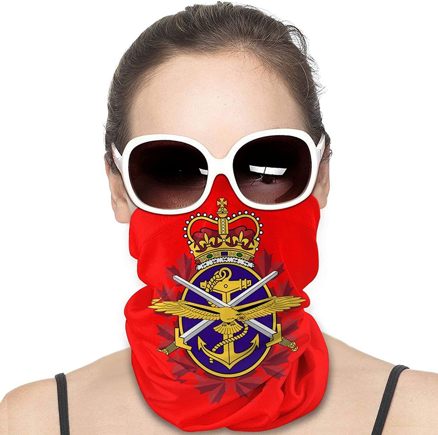 Canadian Armed Forces Round Neck Gaiter Bandnas Face Cover Uv Protection Prevent bask in Ice Scarf Headbands Perfect for Motorcycle Cycling Running Festival Raves Outdoors