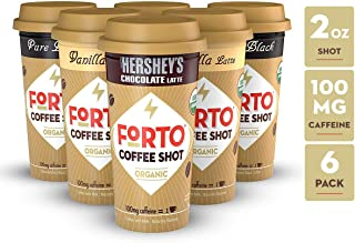 FORTO Coffee Shots - 100mg Caffeine, Variety Pack, Ready-to-Drink on the go, High Energy Cold Brew Coffee - Fast Coffee Energy Boost, 6 Pack