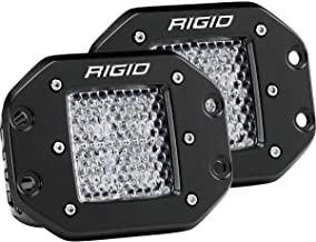 Rigid Industries 212513 D-Series Pro, 3 Inch, Flood Diffused Beam, Flush Mount, LED Light, Pair Universal, 2 Pack