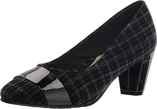 Soft Style Hush Puppies Woherren Mabry Pump, schwarz Plaid Velvet Patent, 8.5 W US