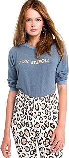 Evil Eyeroll Junior Sweatshirt Sweater